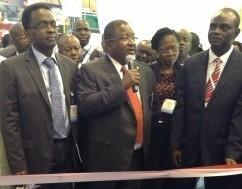 Mr. Andrew Yakubu, GMD NNPC declaring the Nigeria pavilion at the 2013 OTC open
