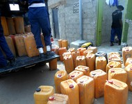 Kegs of petroleum products