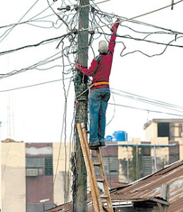 Electricity-worker