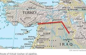 Kurdish oil pipeline to Turkey