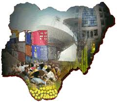 Map depicting Nigeria's economic activities.