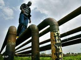 Oil pipeline in the Niger Delta
