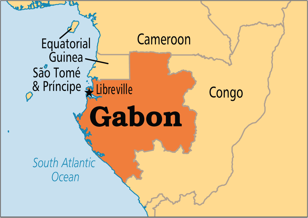 First Oil Flows From North Tchibala Field Offshore Gabon - Gabon map