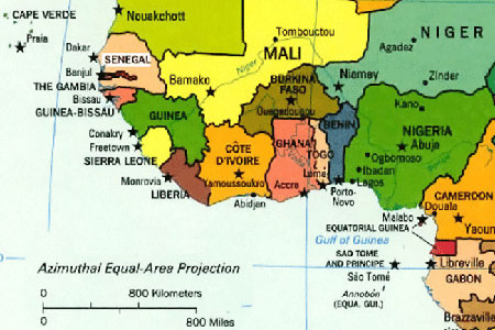 Nigeria partners anglophone countries on cross border insurance west africa map sciox Choice Image