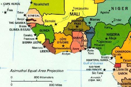West Africa map SweetCrudeReports
