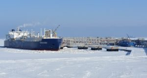 Arctic carrier Vladimir Rusanov loads its first Yamal LNG cargo