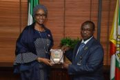 Group-Managing-Director-of-the-NNPC-Dr.-Maikanti-Baru-receiving-the-Managing-Director-Hajia-Hadiza-Bala-Usman-of-the-Nigerian-Ports-Authority-in-Abuja-174x116.jpg