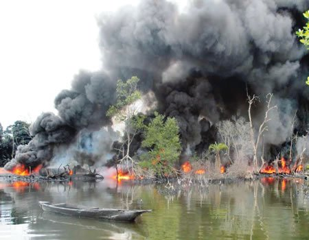 Illegal refining: explosion razes two houses in Rivers State