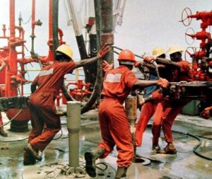 Oil-rig workers
