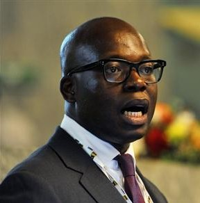 Oando Oil's Managing Director Wale Tinubu attends an Oil and Gas conference in Nigeria's capital Abuja