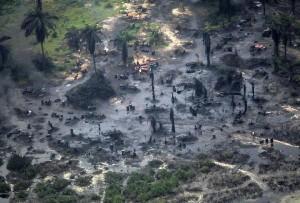 Oil spill in Bodo