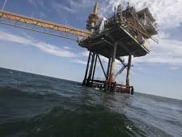 Oil rig in the Gulf of Mexico