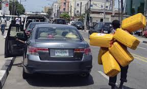 In search of fuel in Lagos, Nigeria.
