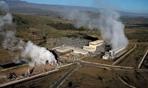 Olkaria II geothermal power plant in Kenya's Rift Valley.