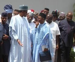 *Nigerian governors with President Muhammadu Buhari.