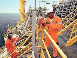*Mobil Oil platform.