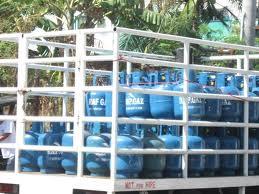 *LPG cylinders.