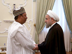 *Dr. Rouhani (r) and Mr. Barkindo.