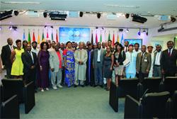 *Members of Nigeria's community in Austria at the OPEC Secretariat.