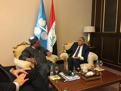 *Dr. Barkindo (left) and HE Al-Luiebi meet in Baghdad