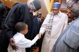 *President Muhammadu Buhari on arrival in Berlin.