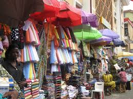 *Lagos market place.