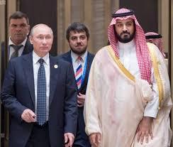 *Russian President Vladimir Putin and Saudi Deputy Crown Prince Mohammed bin Salman.