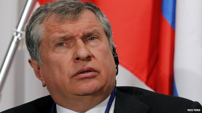 Russia's Sechin raises pressure on Putin to end OPEC deal