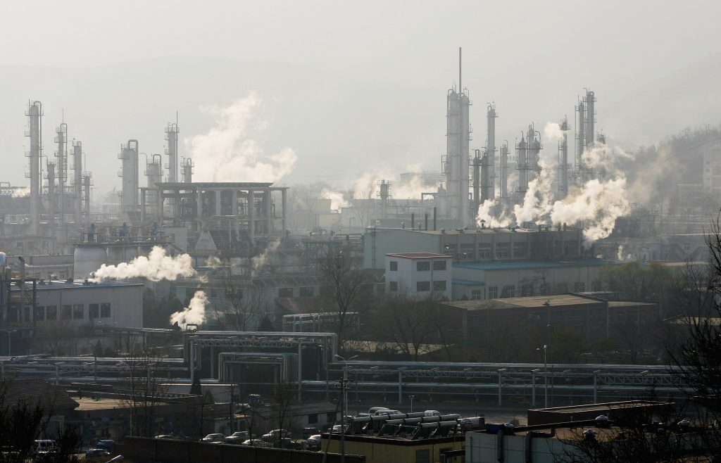 China Oct refinery output rises 9.2% from year ago to second-highest ever