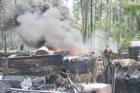 Shut down all illegal refineries, NSCDC boss tell officers