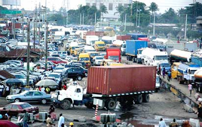 NPA shut pre-gate truck park in error