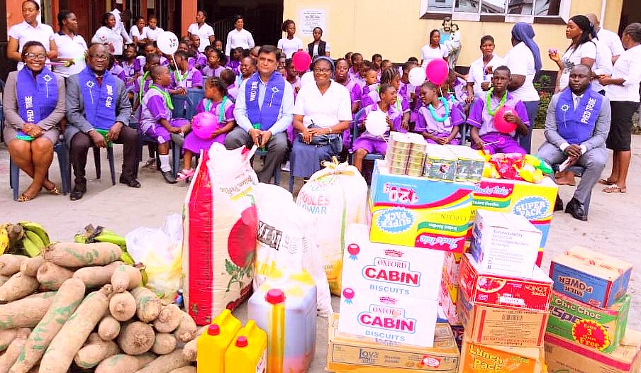 CSR: PHED donates items to special children in Rivers