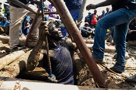 Eight miners rescued from collapsed Zimbabwe shafts