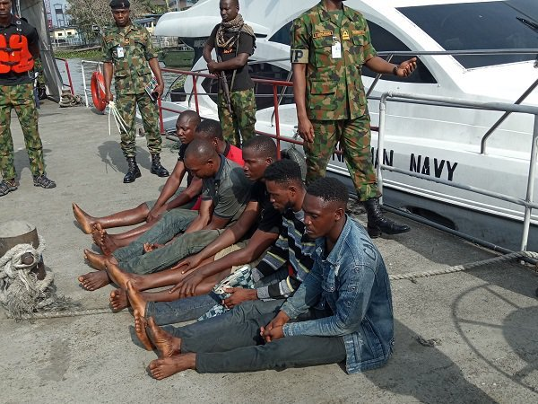 Navy hands over six suspected oil thieves to security agencies