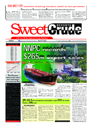 Weekly SweetcrudeReports April 17