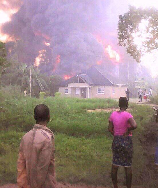 Massive fire rocks Nigeria Agip Oil Company facility in Rivers