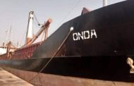 Abandoned MV Onda crew collect rain water to survive