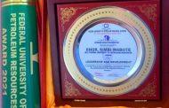 NCDMB boss bags award at petroleum varsity