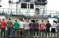 EFCC receives 25 suspects, vessels with 1.3m litres of crude